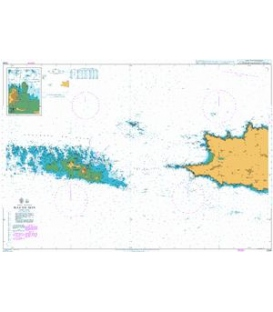 British Admiralty Nautical Chart 2348 Raz de Sein