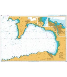 British Admiralty Nautical Chart 2349 Baie de Douarnenez