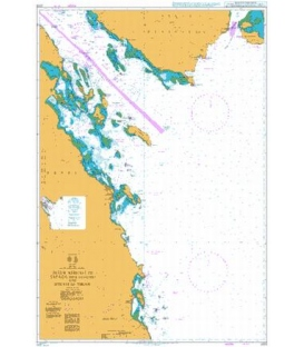 British Admiralty Nautical Chart 2375 Juzur Ashrafi to Safaga (Bur Safajah) and Strait of Tiran