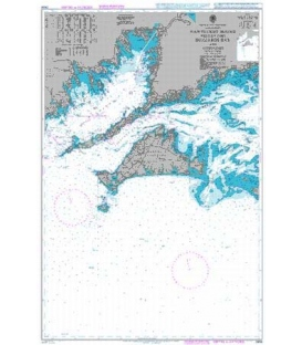 British Admiralty Nautical Chart 2456 Nantucket Sound Western Part Buzzards Bay and Approaches