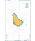 British Admiralty Nautical Chart 2485 Approaches to Barbados
