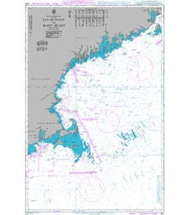 British Admiralty Nautical Chart 2492 Bay of Fundy to Block Island
