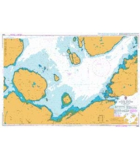 British Admiralty Nautical Chart 2498 Inner Sound Southern Part
