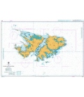 British Admiralty Nautical Chart 2512 The Falkland Islands