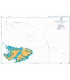 British Admiralty Nautical Chart 2518 North-Eastern Approaches to the Falkland Islands