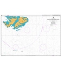 British Admiralty Nautical Chart 2520 South-Eastern Approaches to the Falkland Islands