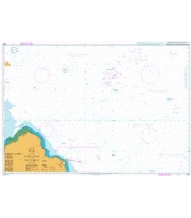 British Admiralty Nautical Chart 2523 Cable Bank to Ra's Rakan
