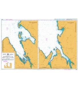 British Admiralty Nautical Chart 2533 Anchorages on the West Coast of Skye