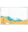 British Admiralty Nautical Chart 2573 Al Burullus to Al 'Arish