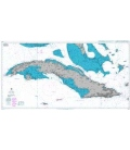 British Admiralty Nautical Chart 2579 Cuba