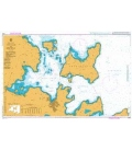 British Admiralty Nautical Chart 2584 Approaches to Kirkwall