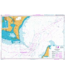 British Admiralty Nautical Chart 2601 Kadetrenden / Kadetrinne