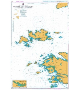 British Admiralty Nautical Chart 2707 Kingstown Bay to Cleggan Bay and Inishbofin to Inishturk