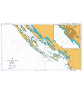 British Admiralty Nautical Chart 2711 Rogoznica to Zadar