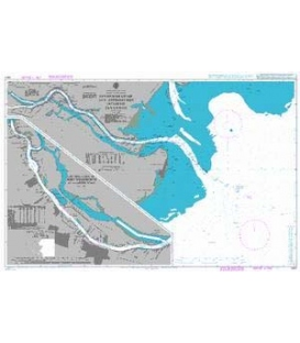 British Admiralty Nautical Chart 2807 Savannah River and Approaches including Savannah