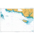 British Admiralty Nautical Chart 2821 Ile de Penfret to Plateau des Birvideaux