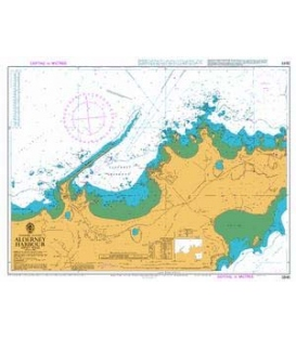 British Admiralty Nautical Chart 2845 Alderney Harbour