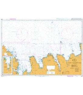 British Admiralty Nautical Chart 2899 Horn to Raudinupur