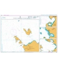 British Admiralty Nautical Chart 2917 Plans in North West Sumatera