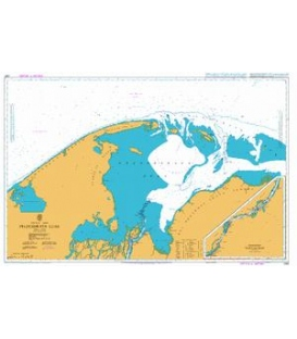 British Admiralty Nautical Chart 2961 Pechorskaya Guba