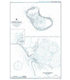 British Admiralty Nautical Chart 2971 Fanning Island
