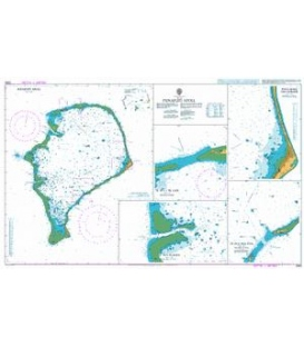 British Admiralty Nautical Chart 2983 Funafuti Atoll