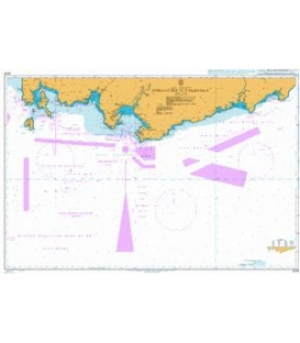 British Admiralty Nautical Chart 3046 Approaches to Nakhodka