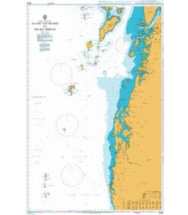 British Admiralty Nautical Chart 3052 Za Det Gyi Island to Mu Ko Similan