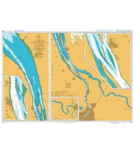 British Admiralty Nautical Chart 3068 La Gironde, La Garonne and La Dordogne