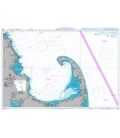 British Admiralty Nautical Chart 3096 Cape Cod Bay