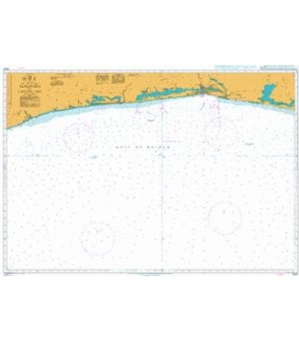 British Admiralty Nautical Chart 3100 Sassandra to Lagune Aby
