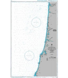 British Admiralty Nautical Chart 3123 Cape Blanco to Yaquina River