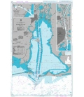 British Admiralty Nautical Chart 3150 Mobile Bay
