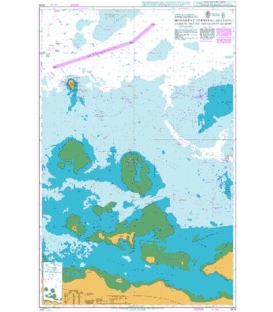 British Admiralty Nautical Chart 3178 Approaches to Mubarraz Terminal including Zaqqum Traffic Separation Scheme