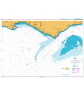British Admiralty Nautical Chart 3220 Entrance to Rio Tejo including Baia de Cascais