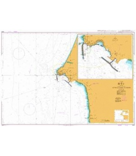 British Admiralty Nautical Chart 3224 Approaches to Sines
