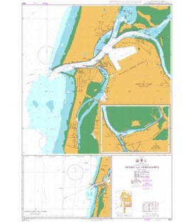 British Admiralty Nautical Chart 3227 Aveiro and Approaches