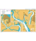 British Admiralty Nautical Chart 3288 Bonny River - Ford Point to Port Harcourt