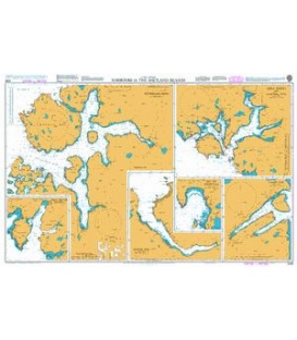 British Admiralty Nautical Chart 3295 Harbours in the Shetland Islands