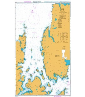 British Admiralty Nautical Chart 3298 Yell Sound