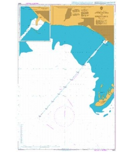 British Admiralty Nautical Chart 3302 Approaches to Berdyans'k