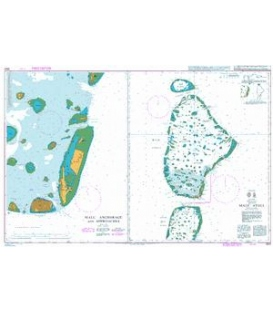 British Admiralty Nautical Chart 3323 Male` Atoll