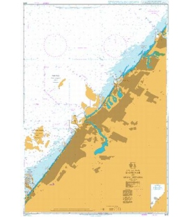 British Admiralty Nautical Chart 3412 Hamriyah to Mina' Seyaha