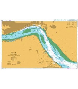 British Admiralty Nautical Chart 3497 River Humber Immingham to Humber Bridge