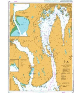 British Admiralty Nautical Chart 3501 Oslofjorden Northern Part