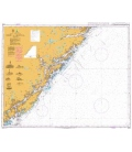 British Admiralty Nautical Chart 3508 Risor to Arendal