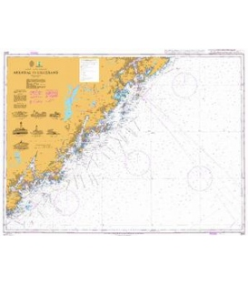 British Admiralty Nautical Chart 3515 Arendal to Lillesand