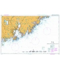 British Admiralty Nautical Chart 3516 Approaches to Kristiansand
