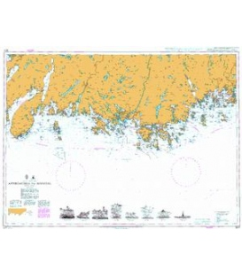 British Admiralty Nautical Chart 3517 Approaches to Mandal