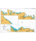 British Admiralty Nautical Chart 3518 Ports and Anchorages on the North East Coast of Oman